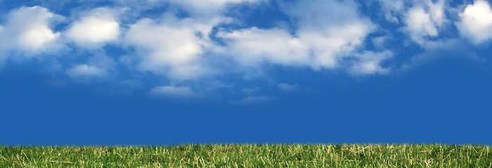 heavenly blue landscape panorama
