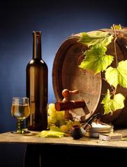 still-life with wine