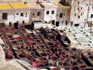 quartier des tanneurs de fès