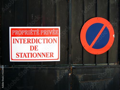 Interdiction de stationner stock photo and royalty free - Interdiction de stationner ...