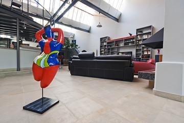 salon loft intérieur appartement bourgeois + art
