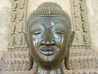 bouddha head - bangkok - thailand - asia