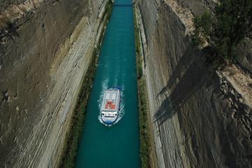 Fotobehang Kanaal isthmos von korinth