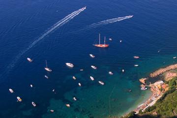 bird's-eye view of the capri's coast