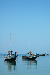 boats at blue sea