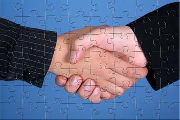handschlag puzzel