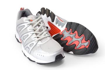 man's jogging shoes