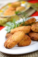 cutlets made from peas