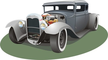 grey hot rod