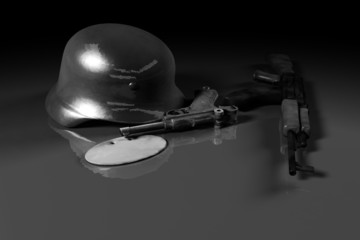 world war ii concept (black and white