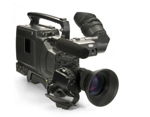 professional digital video camera. with clipping p