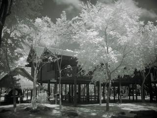 thai house, infrared