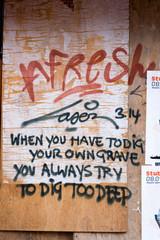 graffiti on amsterdam walls