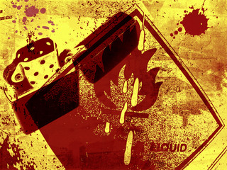 Grunge Fire danger background