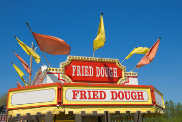 carnival fried dough sign