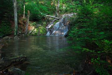 waterfall on mountain stream
