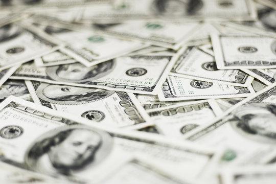 dollars background (shallow dof)