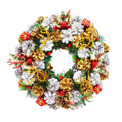 holiday wreath (include clipping path)