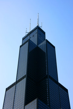 sears tower top from below