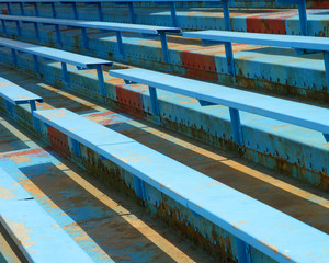 blue bleachers two