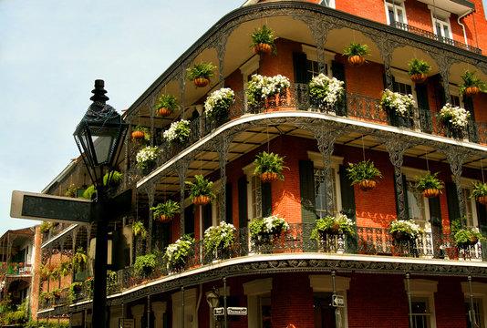 streetlight and balcony