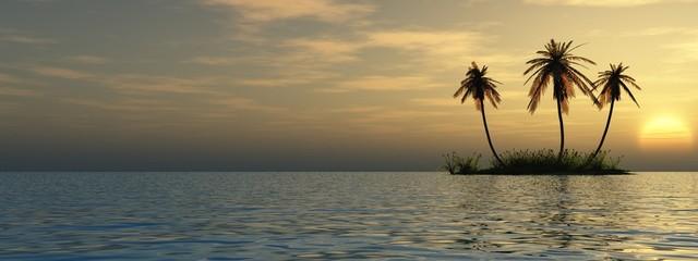 Spoed Fotobehang Grijs small island