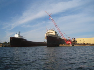 ships in the port of sturgeon bay