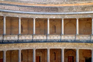 columns in alhambra, granada, spain