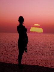 womanly silhouette