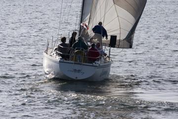sailboat tacking out