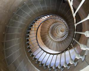 Foto auf Gartenposter Treppe colimaçon escalier du phare des baleines