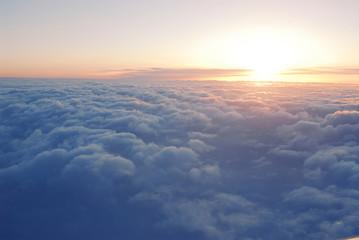 Aluminium Prints Heaven above the clouds