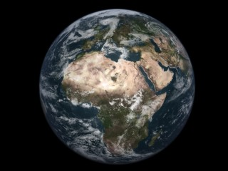 "realistic 3d earth ""africa"" - black background"