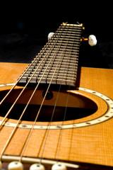 acoustic guitar on black 2