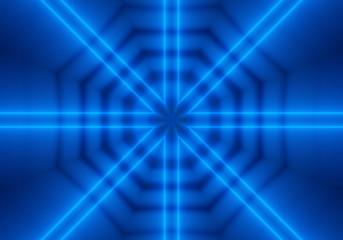 blue kaleidoscopic octagonal pattern image.
