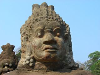 guardian of angkor - statue - cambodia - asia