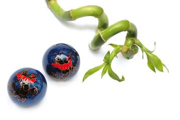 zen balls and bamboo