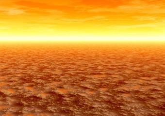 sunset. desert
