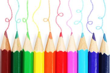 colorful pencils.