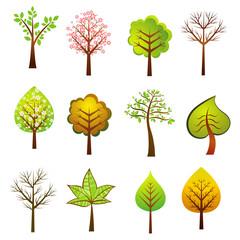 many trees, vector