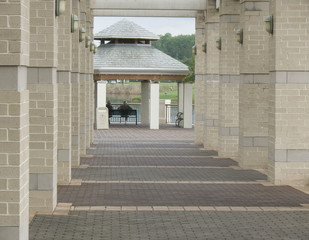 walkway and columns