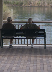 old men on bench