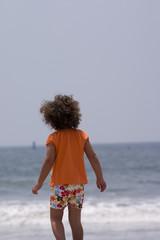 beach scene 3- young boy