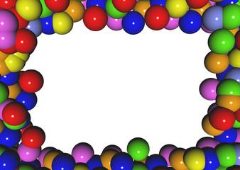 cornice di palline colorate