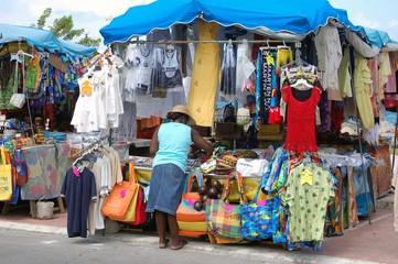 outdoor market stall on st.martin