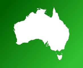 map of australia on green gradient background