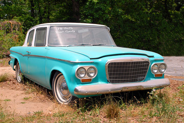 Foto op Plexiglas Oude auto s classic car for sale