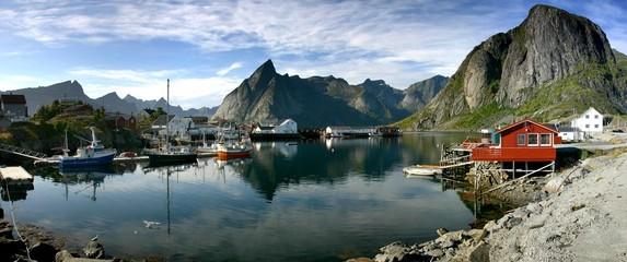 Tuinposter Scandinavië hamnoy fischerhafen