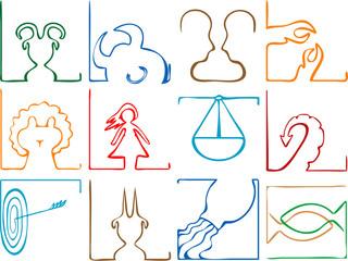 zodiac signs concept