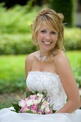 radiant blond bride
